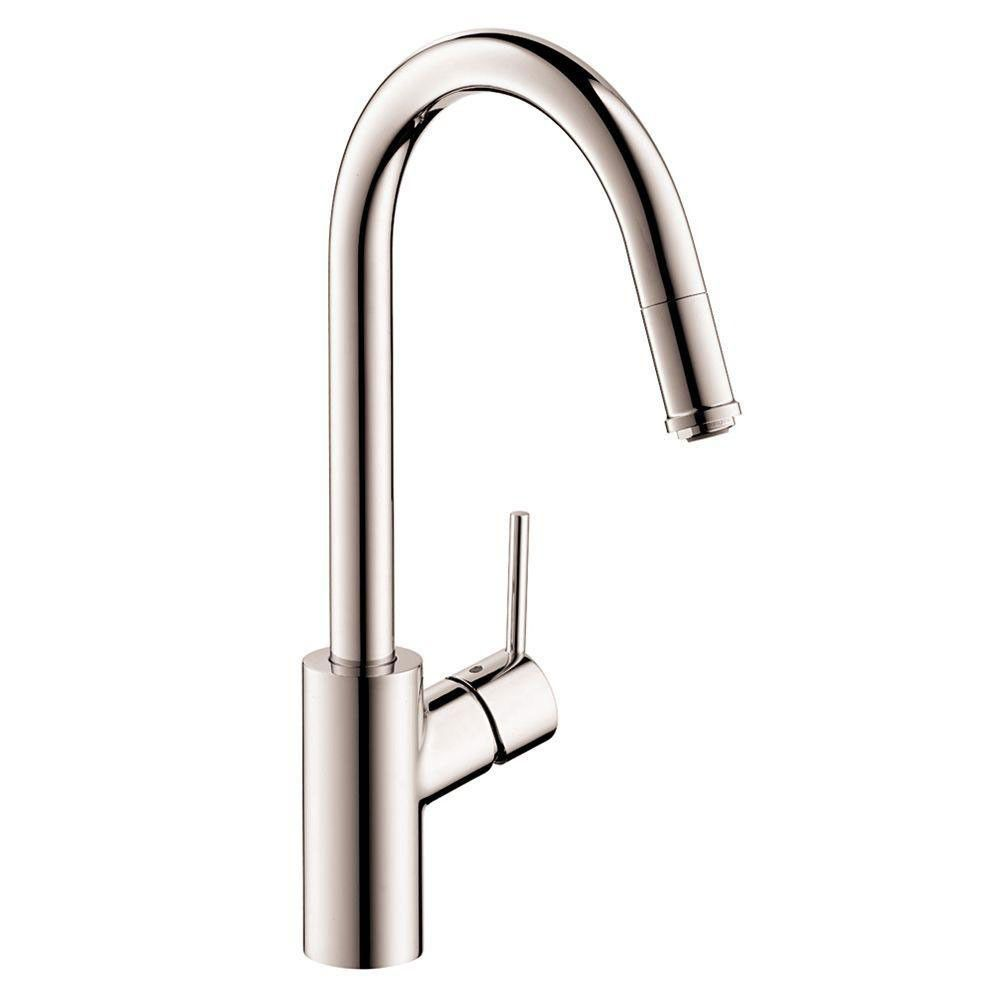 Hansgrohe talis s singlehandle kitchen faucet spray in steel