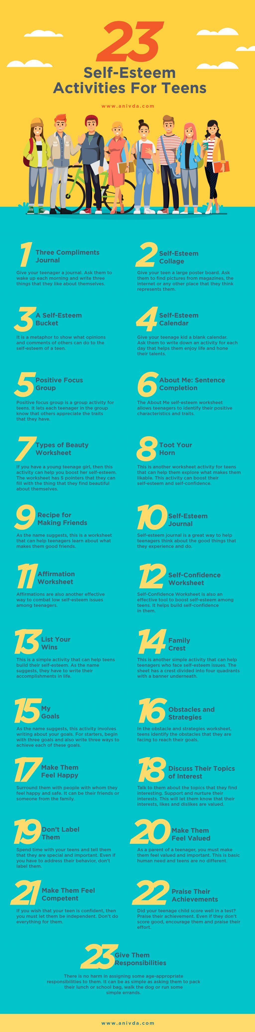 23 Self Esteem Activities For Teens