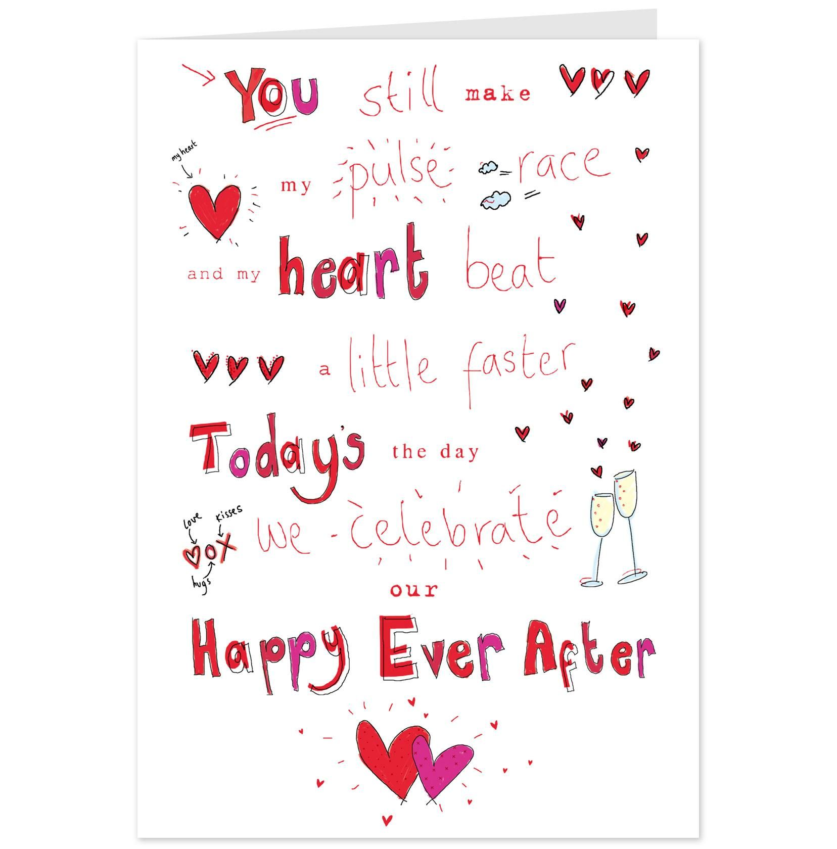 Happy Ever After Anniversary Card Hallmark UK  Printable Anniversary Cards For Husband
