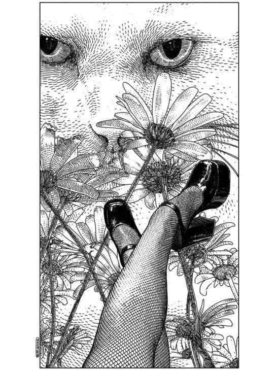 Apollonia Saintclair 457 - 20140212 La rêverie interrompue (Torn from her lazy daydreaming) Art Print