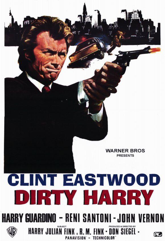 The Enforcer Clint Eastwood vintage movie poster print