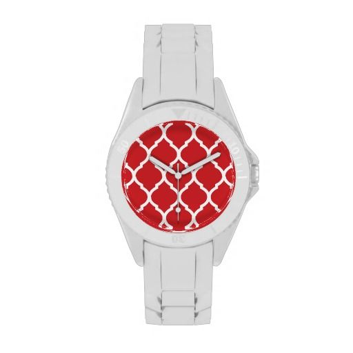 >>>Hello          Red and White Chic Moroccan Lattice Wristwatch           Red and White Chic Moroccan Lattice Wristwatch in each seller & make purchase online for cheap. Choose the best price and best promotion as you thing Secure Checkout you can trust Buy bestReview          Red and Whit...Cleck Hot Deals >>> http://www.zazzle.com/red_and_white_chic_moroccan_lattice_wristwatch-256567261227882876?rf=238627982471231924&zbar=1&tc=terrest