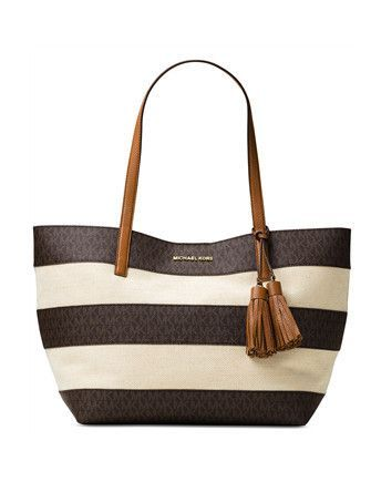 Michael Michael Kors Striped Large East West Tote