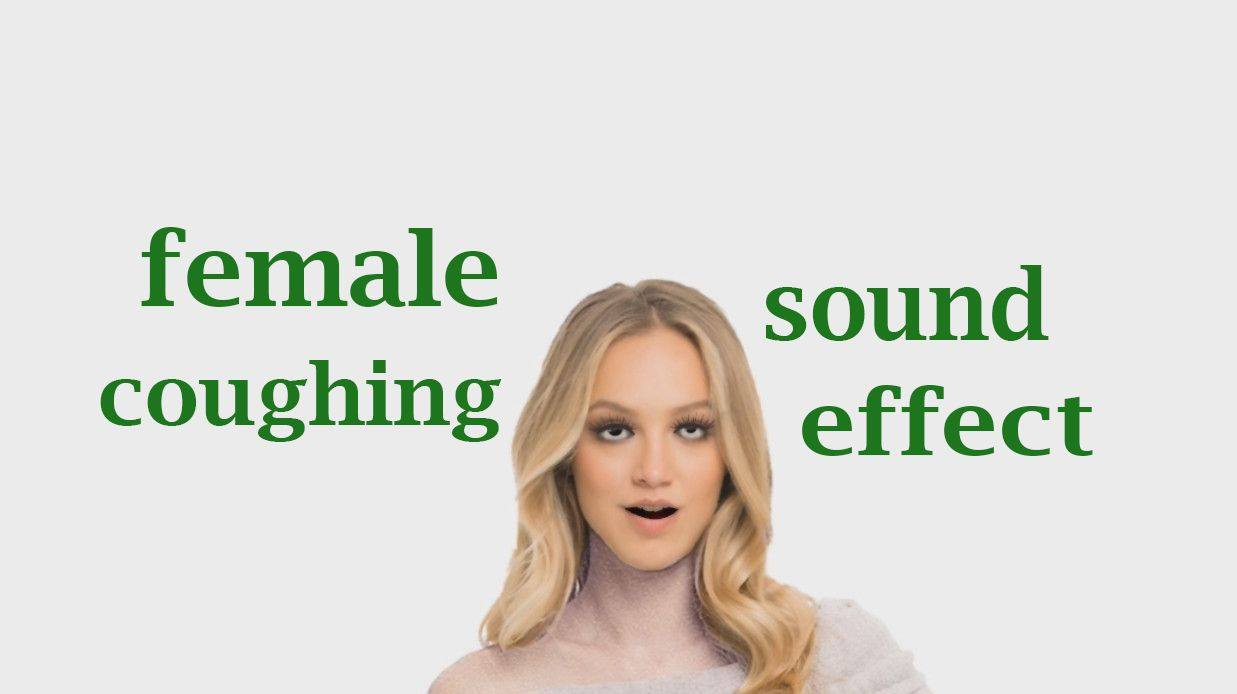 Female coughing sound effect animation