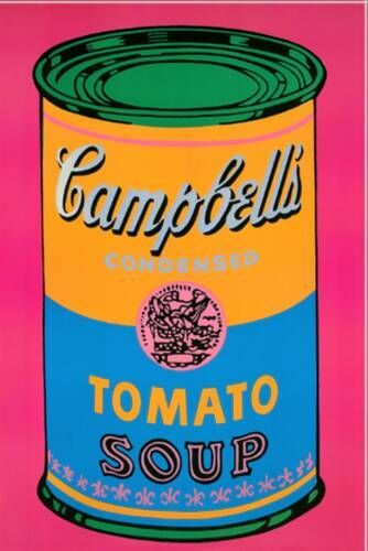 Campbell's Soup Can (Tomato/Pink), 1968 - Andy Warhol - WikiArt.org