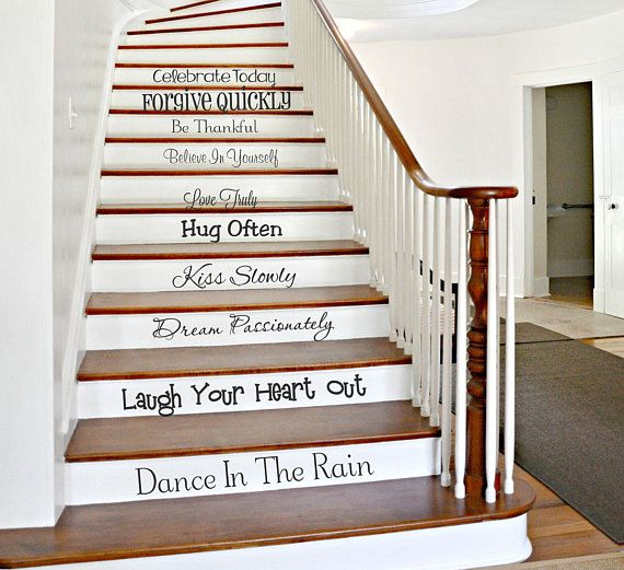 58 Cool Ideas For Decorating Stair Risers: We Do Stairway Decals