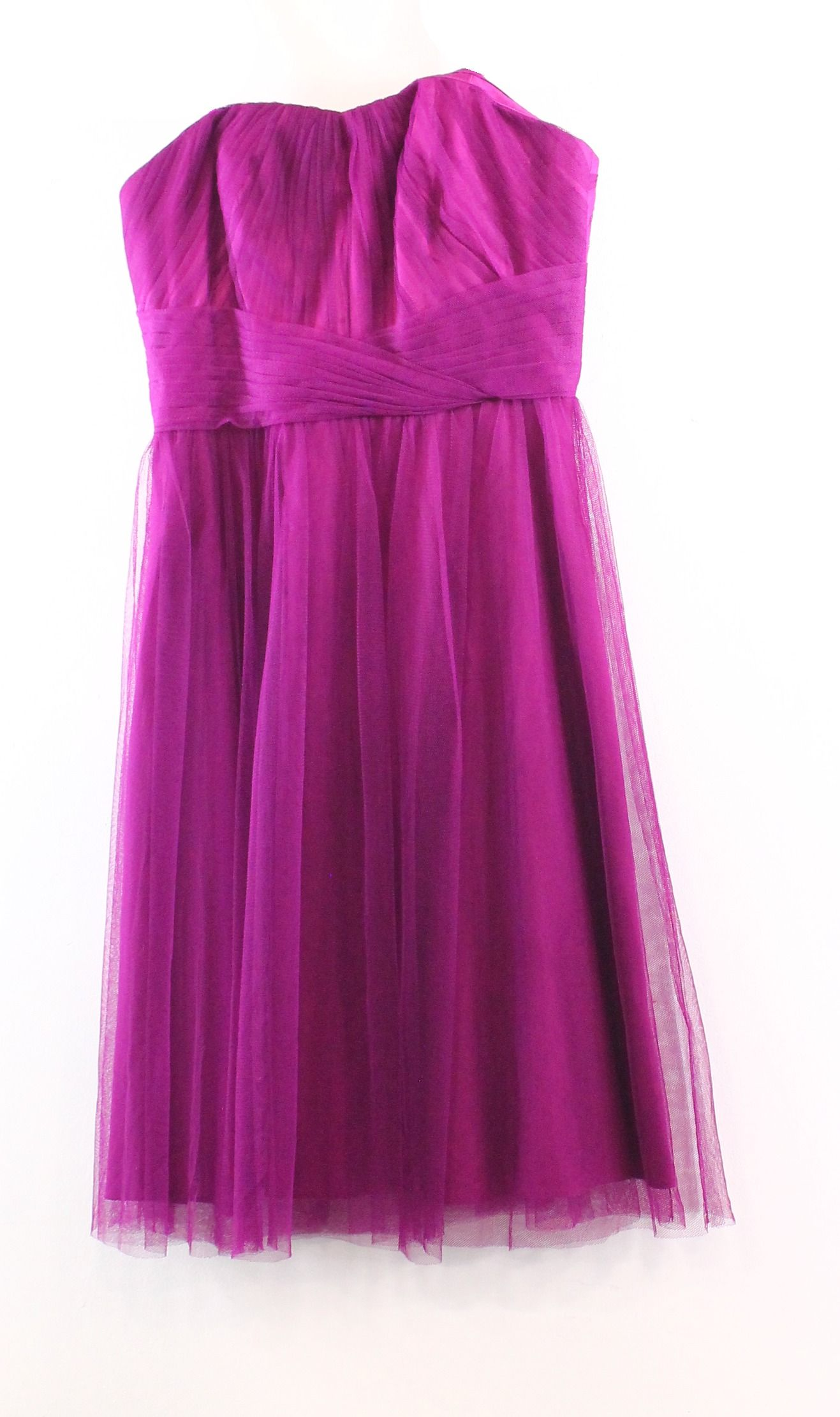 Lauren Ralph Lauren NEW Purple Ruched Pleated Women's 2 Sheath Dress $230