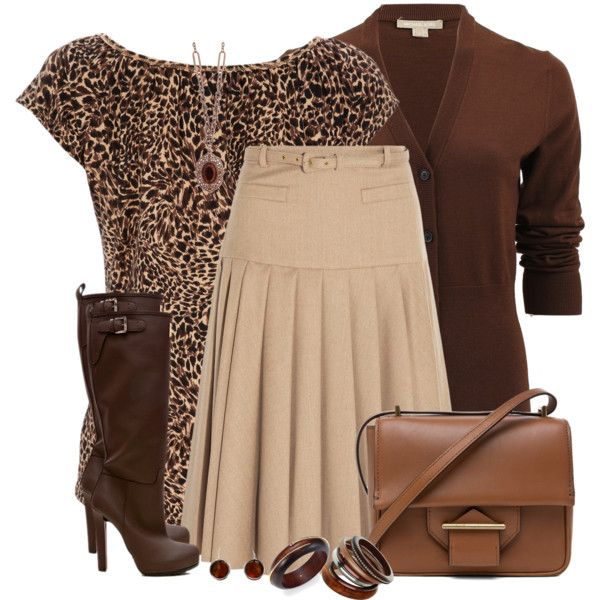A fashion look from September 2014 featuring Michael Kors cardigans, Wallis t-shirts and Oscar de la Renta skirts. Browse and shop related looks.