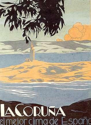 Las Galerías De La Marina Uno De Los Sectores Urbanos Más Logrados Del Mundo A Coruña Carteles De Viajes Vintage Galerías