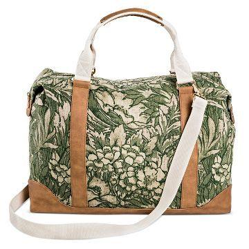 Women's Weekender Handbag Green Print - Merona™