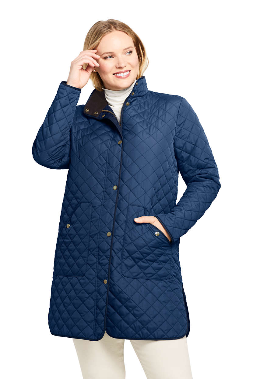 Women's Plus Size Insulated Quilted Barn Coat from Lands