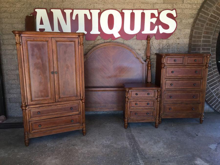 Beautiful Bassett Furniture 4 Piece Bedroom Set   Queen Bed, Dresser,  Nightstand,