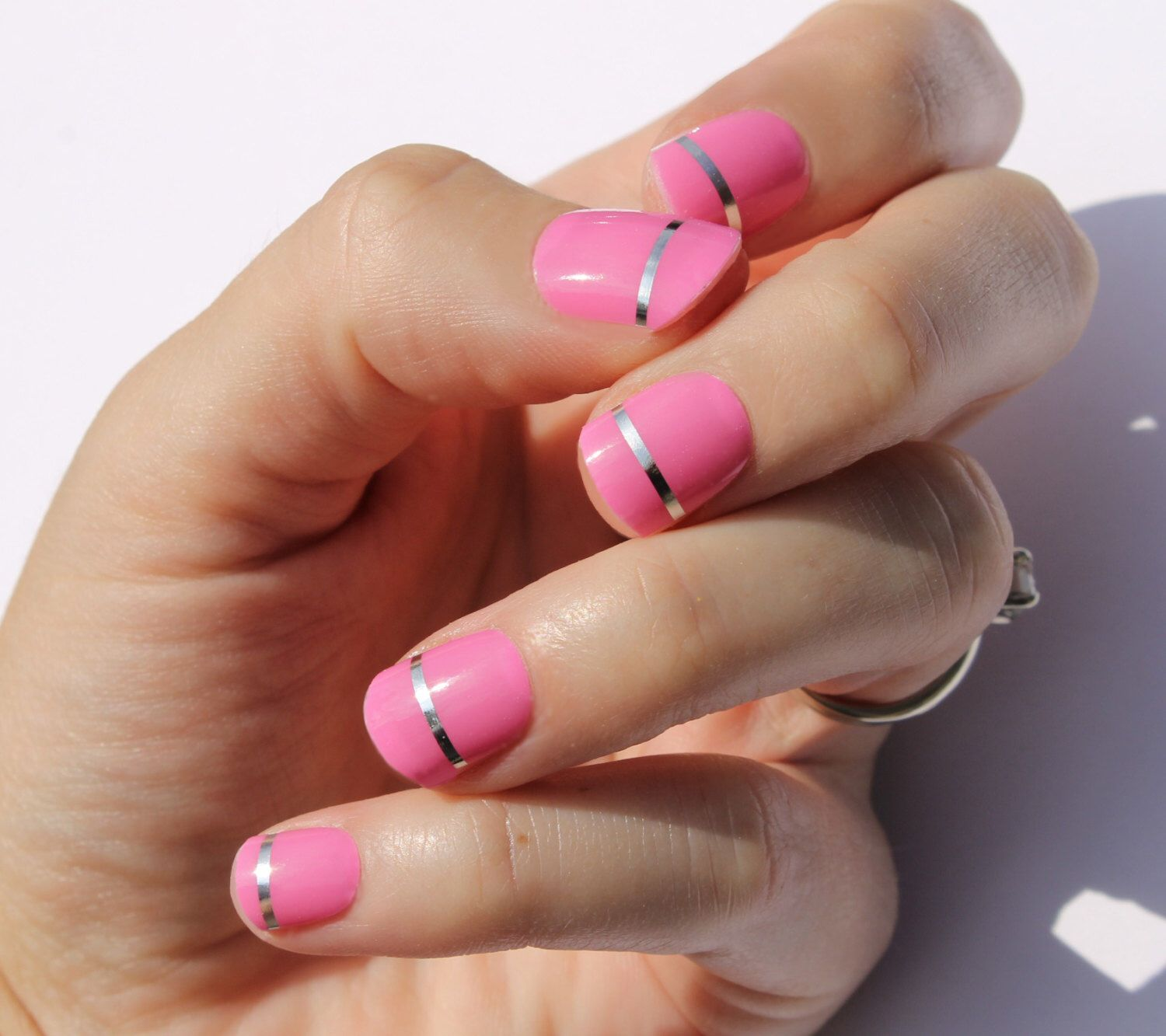 Pink Lola Nail Wraps by SoGloss on Etsy https://www.etsy.com/listing ...