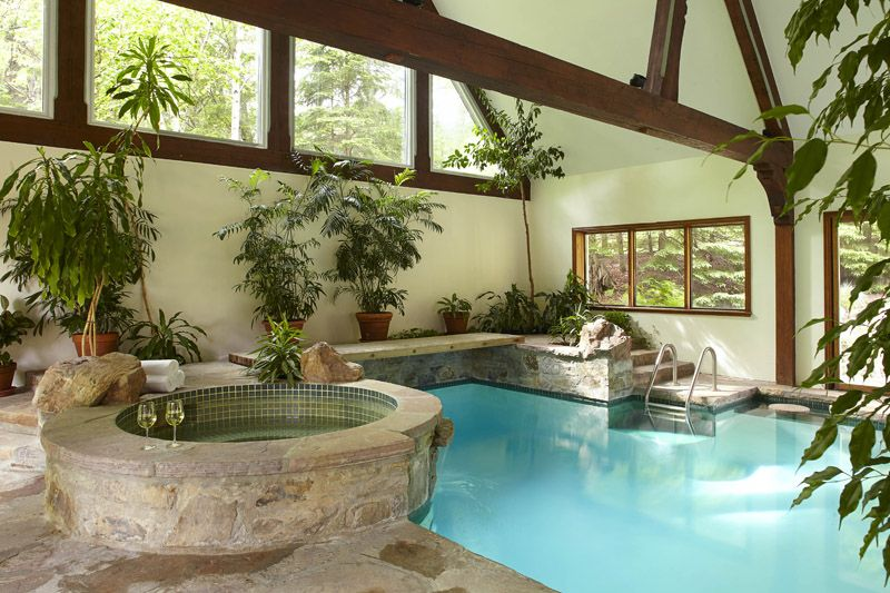 Gorgeous Indoor Pool and Hot Tub Greenhouse What a dream place - jacuzzi interior