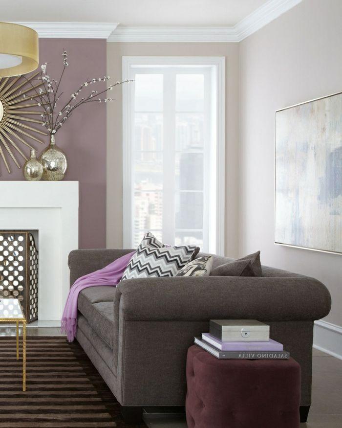 Cool déco salon couleur parme violet couleur idées déco salon