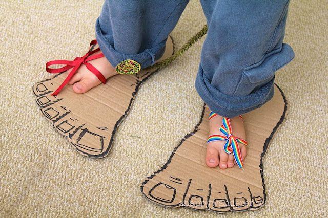 DIY Cardboard monster feet!