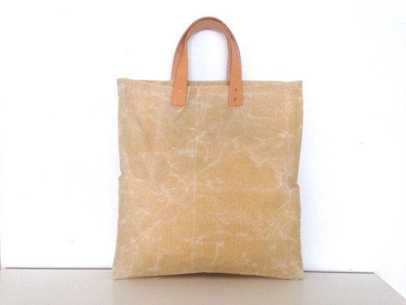 6a95a073e0a6e Canvas Tasche gewachst simply natur Ledertragriemen von mnidesign