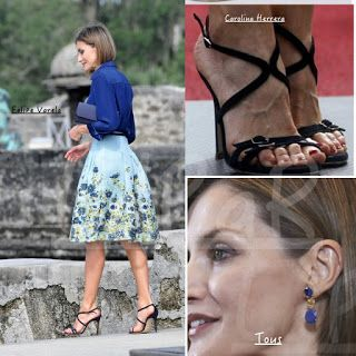 S.M Reina Letizia: FLORES Y CRISTALES PARA SU ULTIMO DIA EN EEUU / FLOWERS AND CRYSTALS FOR HER LAST DAY IN THE USA