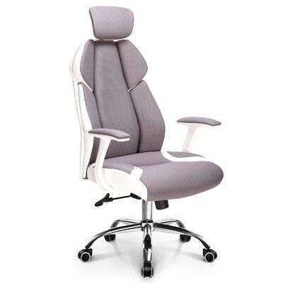 Black Fabric Comfortable Back Adjustable Swivel Home Computer Office PC Chair