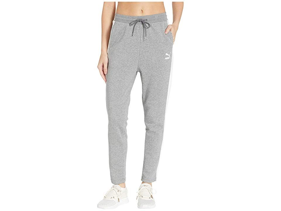 PUMA Classics T7 Track Pants (Medium Grey Heather) Women's