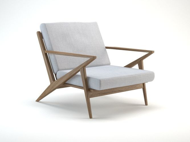 Mid Century Z Lounge Chair 3d Model Chair Lounge Chair