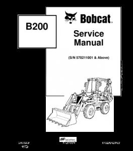 Best download bobcat b200 backhoe loader service manual