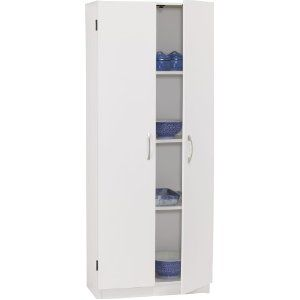 Amazon Com Ameriwood 7347015by Two Door Storage Pantry 24 Inch Wide White Home Kitchen Door Storage Locker Storage Tall Cabinet Storage