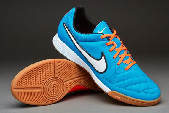 Nike Futsal Shoes - Nike Tiempo Genio Leather Indoor - Neo Turq-White-Hyper