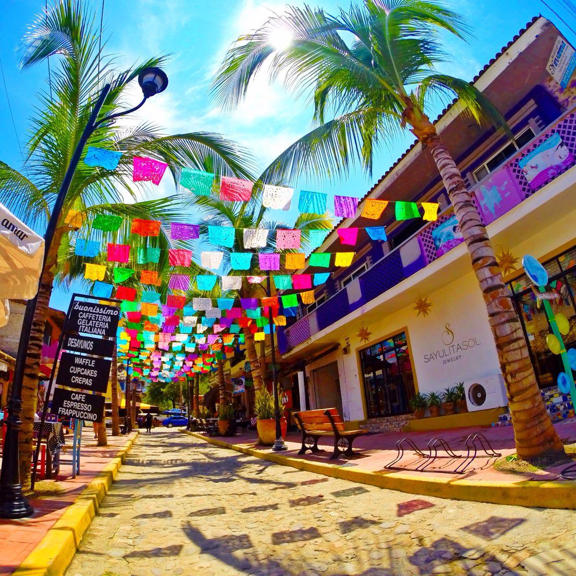 Sayulita Nayarit mexico colored papelitos