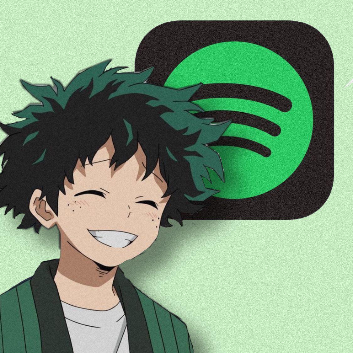 freetoedit anime app icon deku spotify anime app