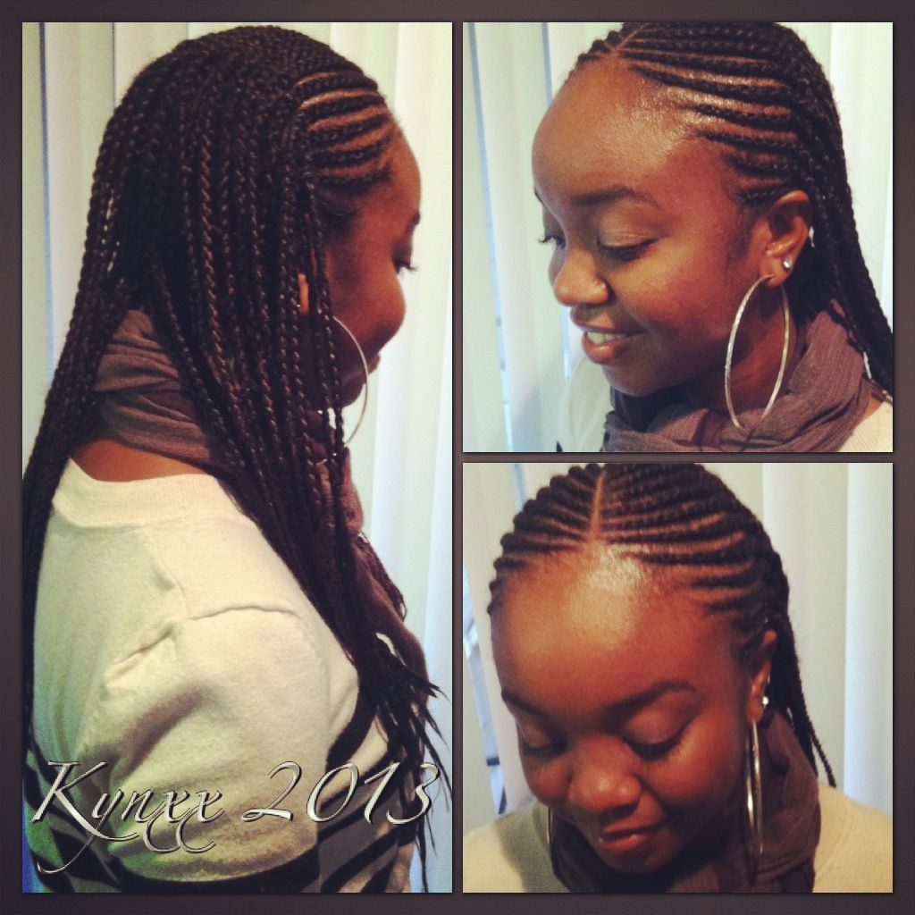 One of my favorite styles – Amber Frank did my two-layer-cornrows just like this.