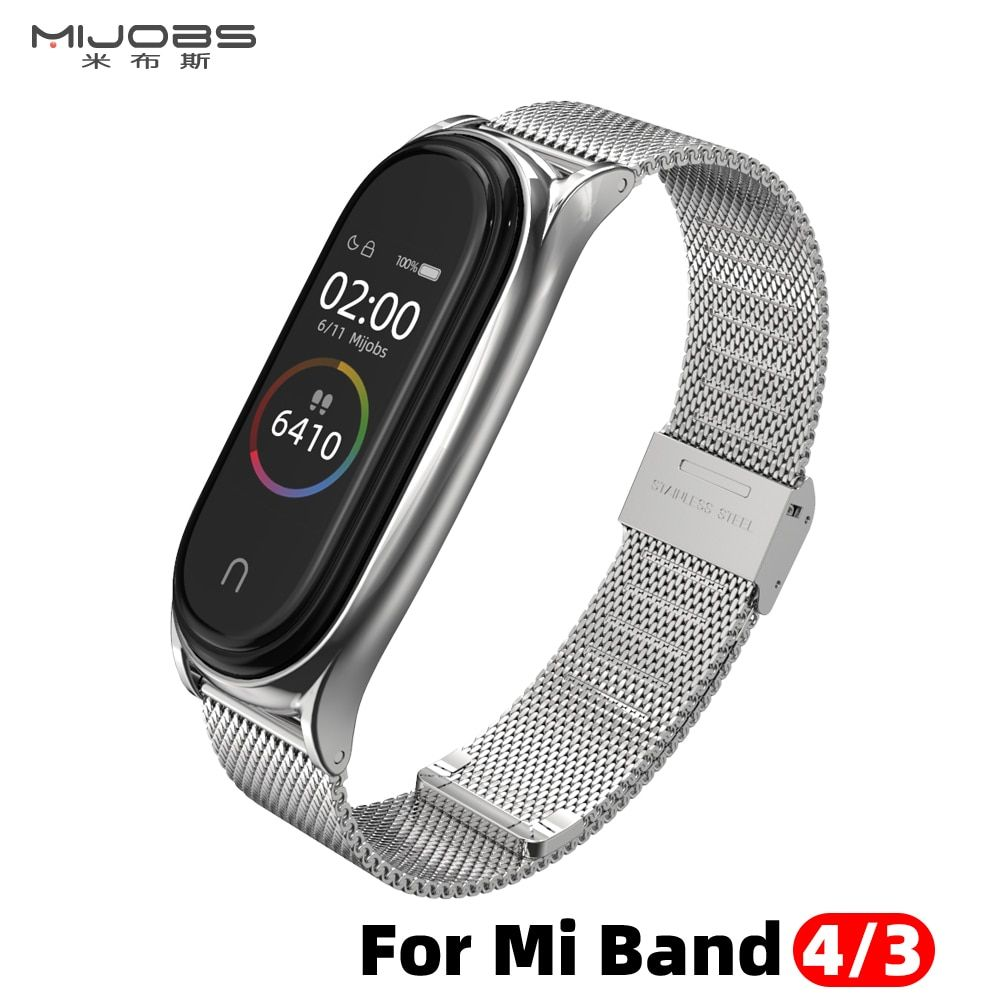 For Xiaomi Mi Band 4 Strap Metal Milanese Stainless Steel Miband 4 Strap Compatible Bracelet Wrist Pulseira Mi Band 4 3 Correa Di Wearable Device Xiaomi Strap