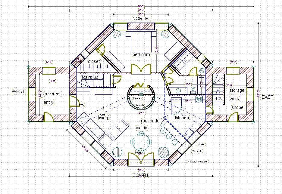 Straw Bale House Plan Eye Octagon Barrington House Plans 65798 Octagon House Round House Plans Straw Bale House