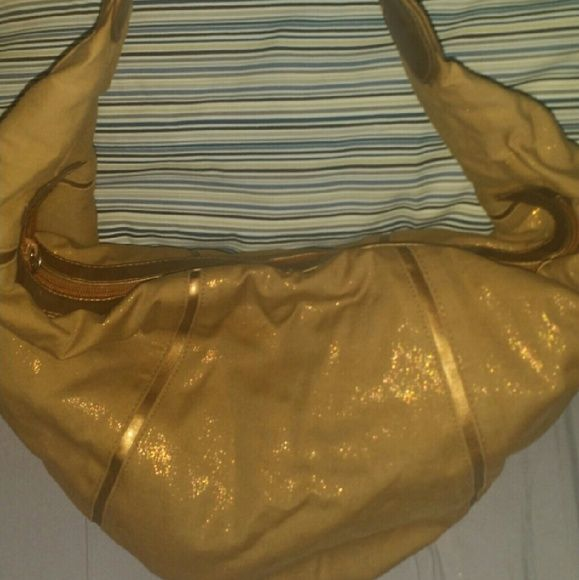 Dont use anymore Gold metalic fabric Bags Shoulder Bags