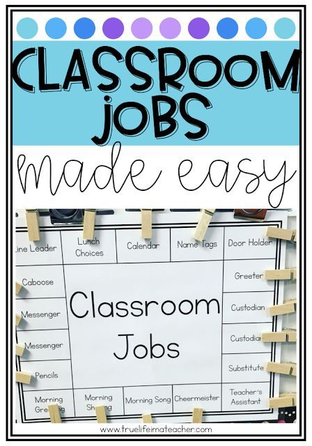 It's no secret that I am a MAJOR fan of class jobs - I mean...many hands make light work, right? Aside from having 20 or so helpers around the classroom, there's a whole bunch of other reasons I think