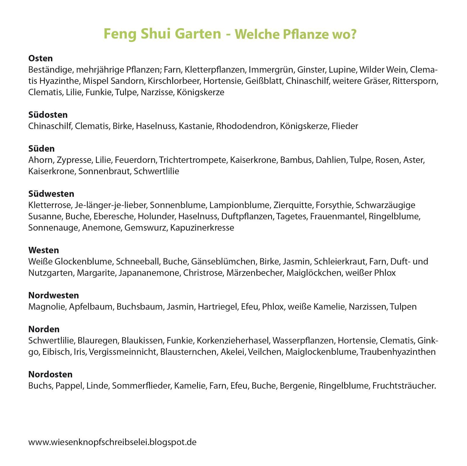 Wiesenknopfschreibselei: Feng Shui im Garten - Gartengestaltung ...