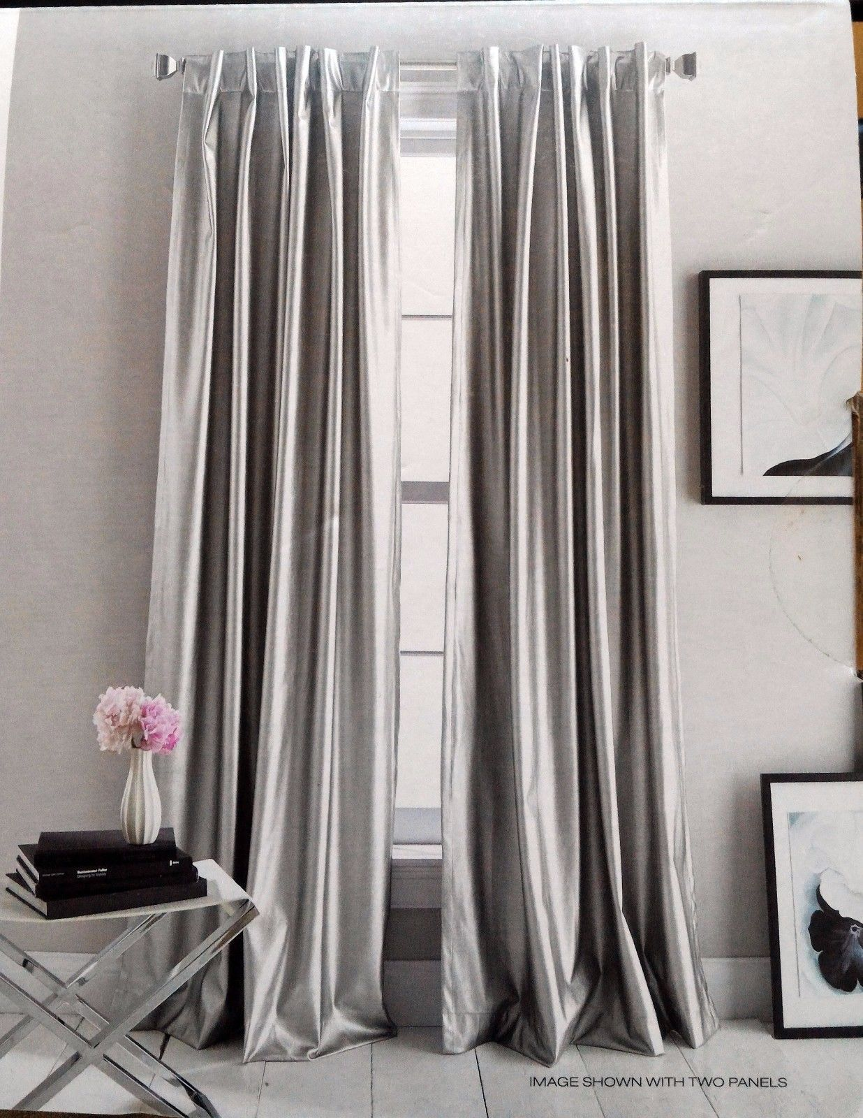 Dkny Matte Gray City Slate Faux Leather Dinning Room Table Decor Curtain Decor Window Decor