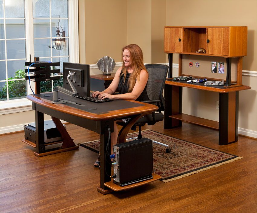 Artistic Computer Desk 2 In Office Computer Desk Desk Hardwood