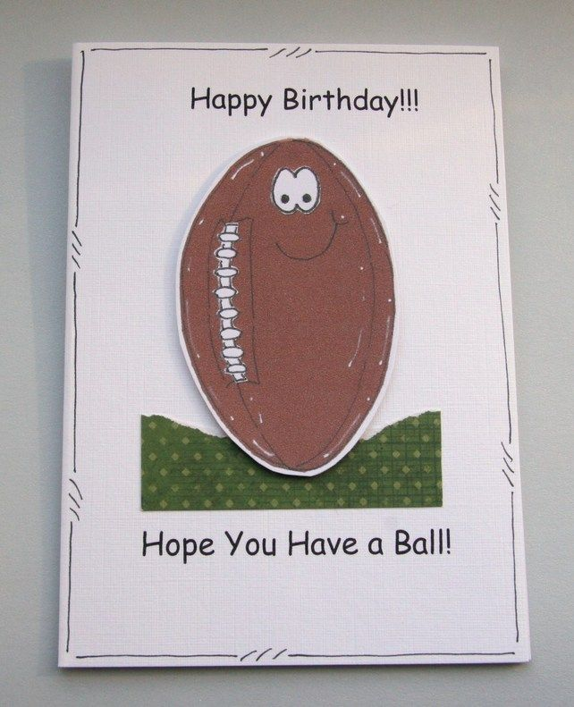 Hope You Have A Ball Rugby Ball Birthday Card Can Be Personalised Card Making Birthday Kids Birthday Cards Dad Birthday Card
