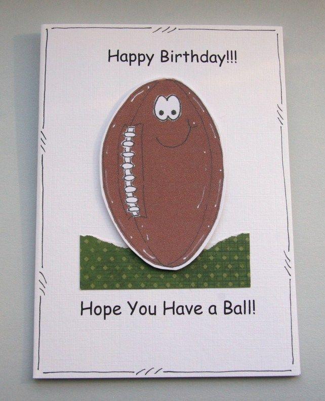 Handmade Rugby Birthday Card – Rugby Birthday Cards