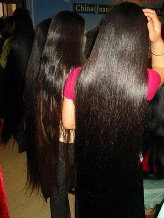 Many ladies with beautiful hair