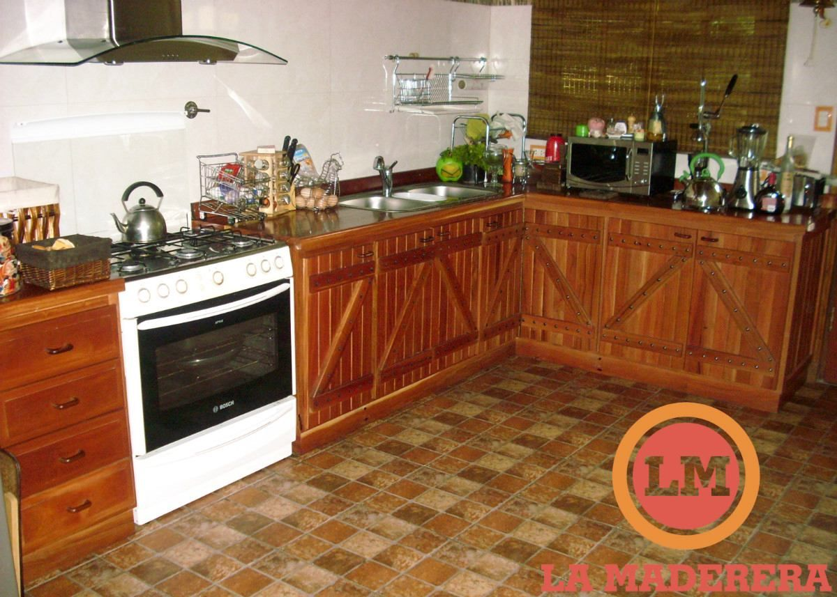 Mueble bajo mesada en madera quebracho nuevo para cocina for Muebles bajos cocina negro