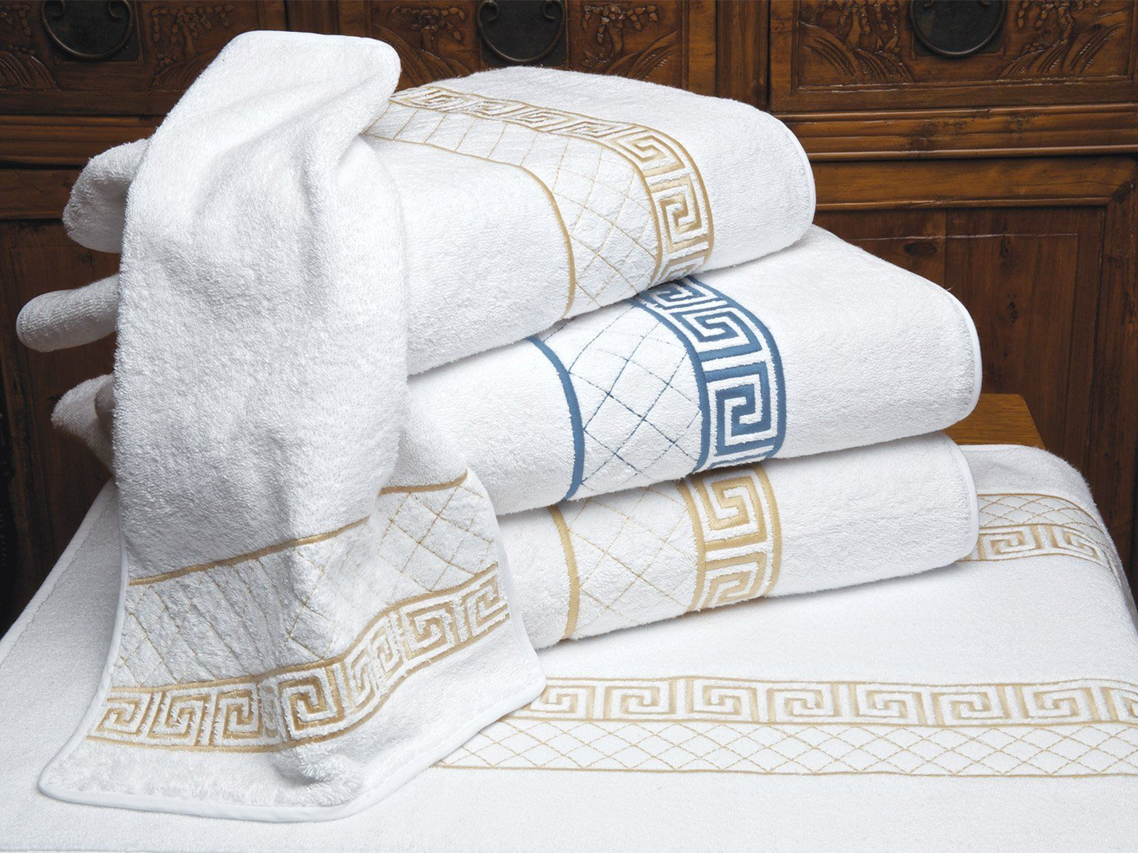 Acropolis Towels Clic Greek Key