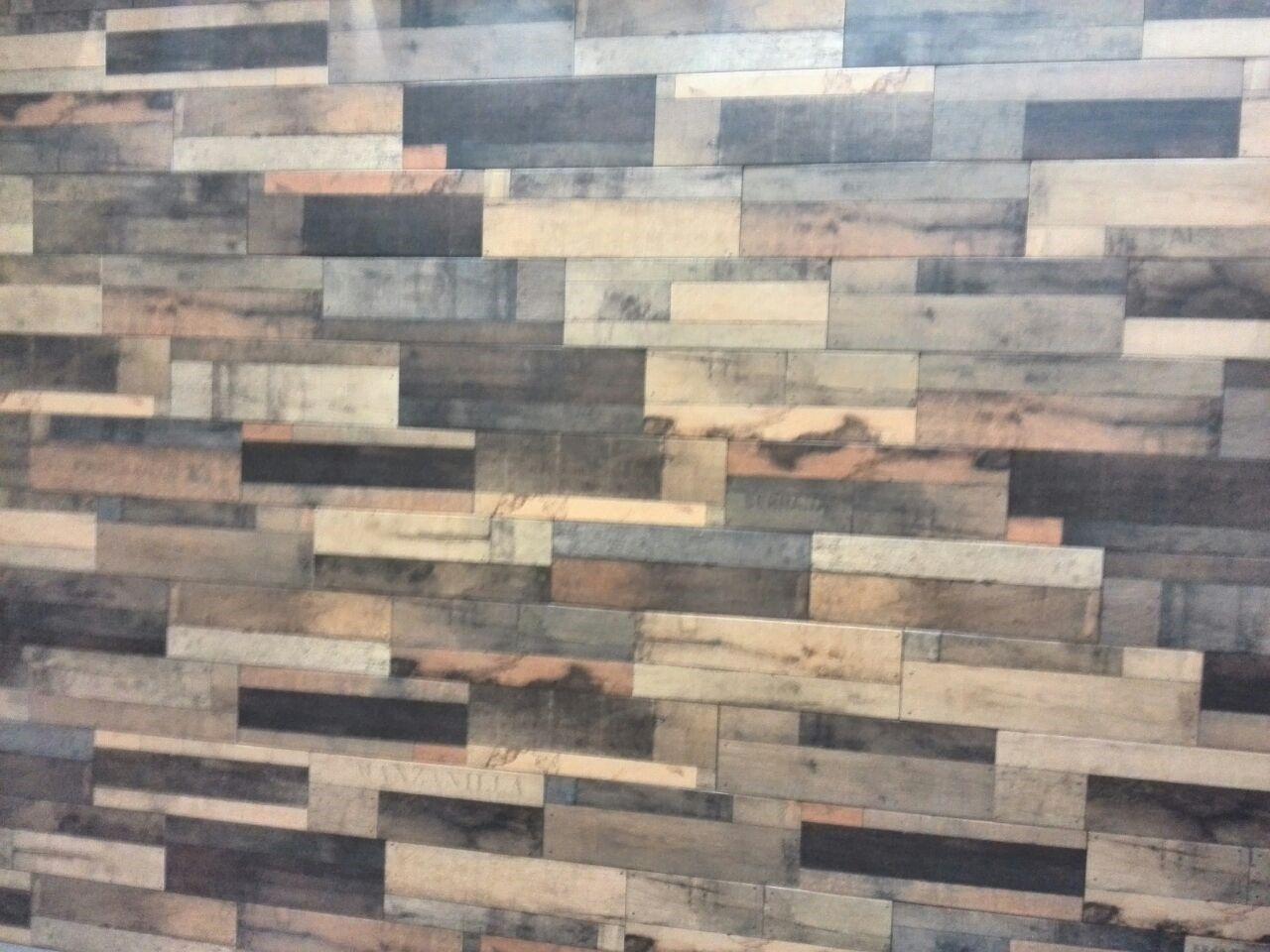 keramisch parket, sloophout beige, 20 x 60 cm, geschikt voor wand ... - Beige Wand