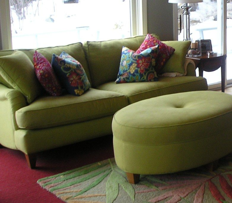 Green Sofa, Living Room Green