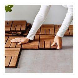 RUNNEN Decking, outdoor, brown stained, 9 sq feet - IKEA