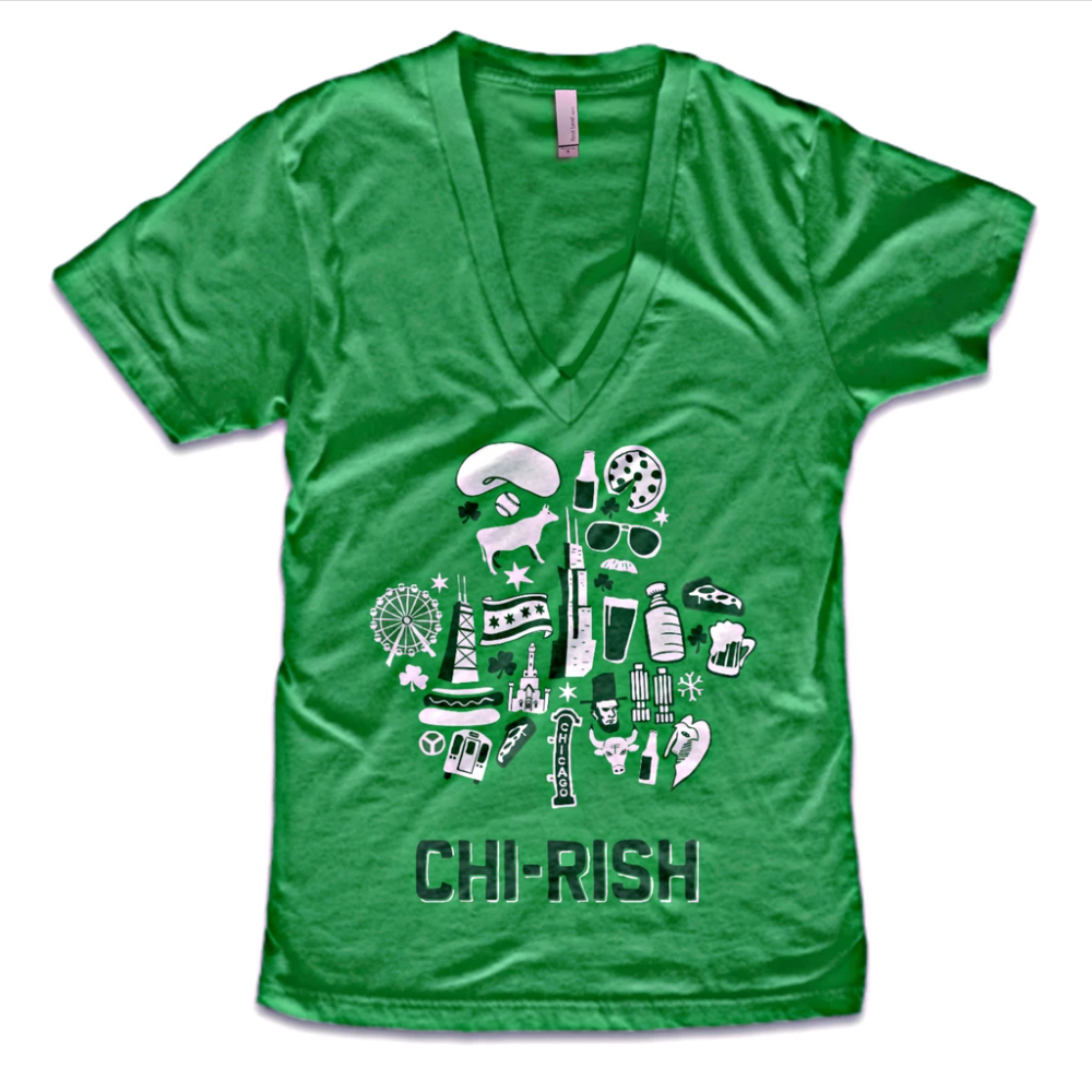 CHI-rish Women's V-Neck - Chitown Clothing