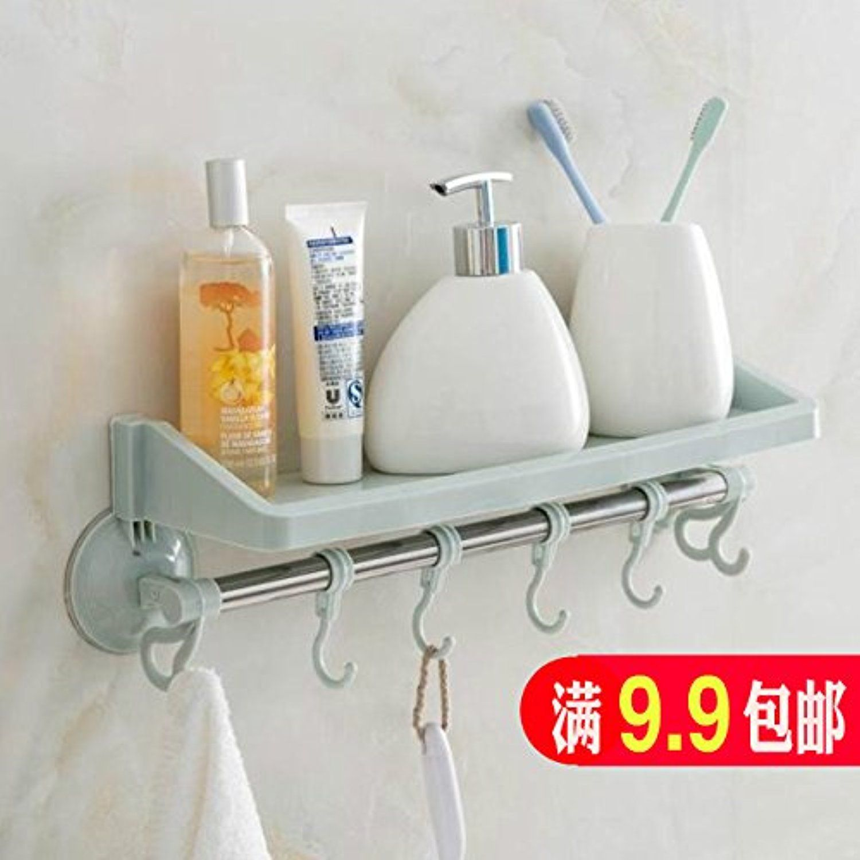 Punch-free suction unit wall mounted single layer plastic bath racks ...