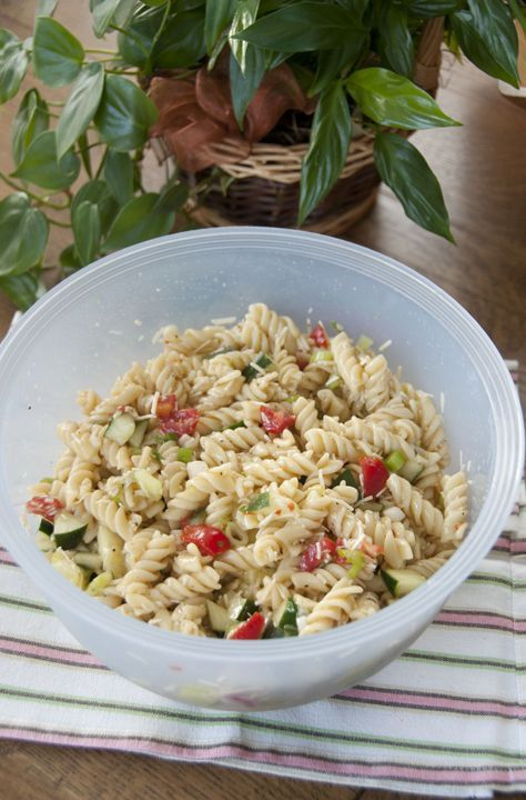 Pasta Salad An easy, yet very delicious pasta salad is the perfect side dish for any BBQ, picnic, pot luck, or cook out.An easy, yet very delicious pasta salad is the perfect side dish for any BBQ, picnic, pot luck, or cook out.