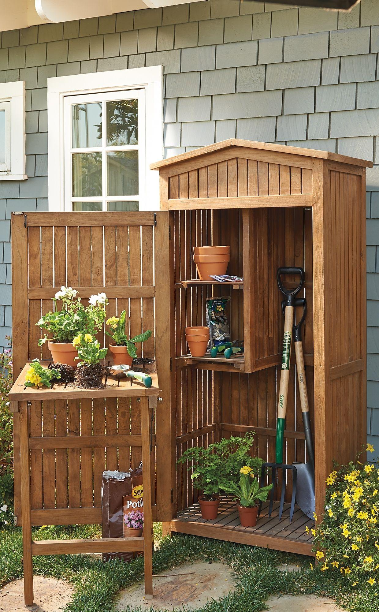 Teak Garden Storage Frontgate Garden Tool Storage Building A Shed Garden Storage